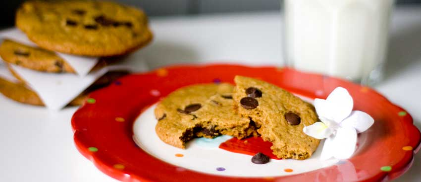 Cookies con gotas de chocolate