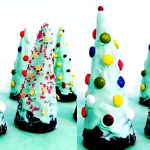 Árbol de Navidad de chocolate y cucurucho