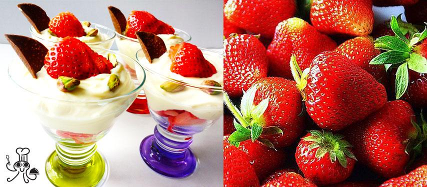 Crema de chocolate blanco con fresas: Un postre rápido con solo 4 ingredientes